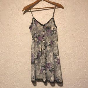 UO lace mini dress
